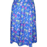 Azure Blue Printed Panelled Skirt