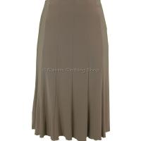 Dark Taupe Plain Lined Panelled Skirt