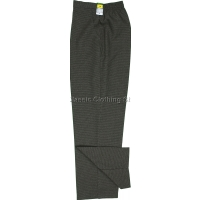 Grey Small-Dogtooth Trousers