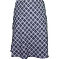 Navy/Taupe Diamond Check Lined Skirt