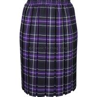 Purple Fully Elasticated Box Pleated Skirt