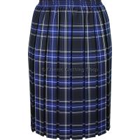 Royal Blue Fully Elasticated Box Pleated Skirt