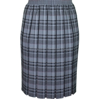 Silver Grey Fully Elasticated Box Pleated Skirt