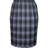 Charcoal Grey Fully Elasticated Box Pleated Skirt
