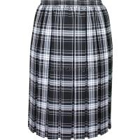 Black & White Fully Elasticated Box Pleated Skirt