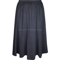 Charcoal Dogtooth Paneled Skirt