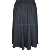 Black Dogtooth Paneled Skirt