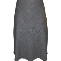 Grey Diamond Check Lined Skirt