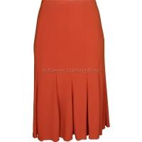 Burnt Orange Plain Lined Panelled Skirt