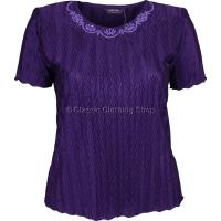 Grape Short Sleeve Plisse Top