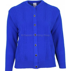 Capers Royal Blue Round Neck Cardigan