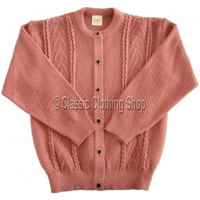 Capers Dusty Pink Round Neck Cardigan