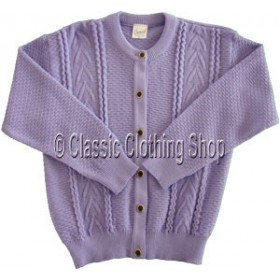 Capers Lilac Round Neck Cardigan
