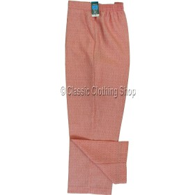 Coral Linen Look Self Pattern Trousers