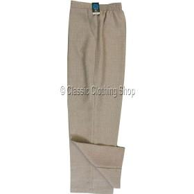Pebble Linen Look Self Pattern Trousers