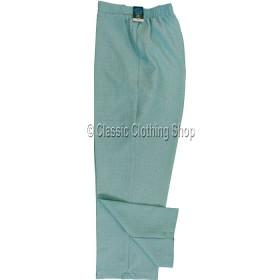 Cyan Linen Look Self Pattern Trousers