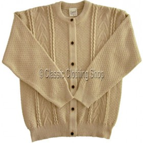 Capers Oatmeal Round Neck Cardigan