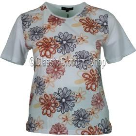 Coral Floral Embellished T-Shirt