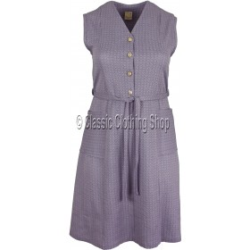 Soft Lavender Diamond Pattern Pinafore Dress