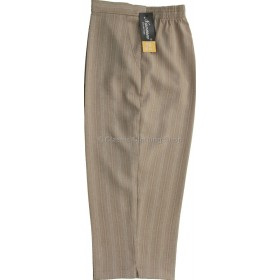 Pebble Stripe Cropped Trousers