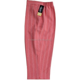 Coral Stripe Cropped Trousers