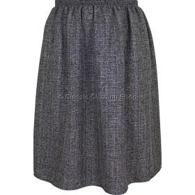Mottle Grey/Black Elasticated Gathered Skirt