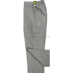 Light Grey Linen Look Trousers