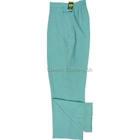 Marine Green Linen Look Trousers