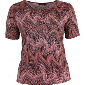 Coral Abstract Printed Slinky Top