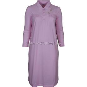 Pink Fleurette Long Sleeve Nightdress
