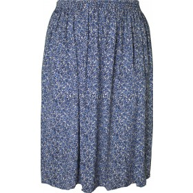 Blue Floret Printed Skirt