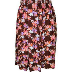 Brown Floral Printed Skirt