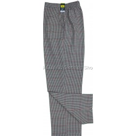 Red Dogtooth Trousers