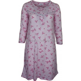 Pink 'Pink Blossom' Floral Long Sleeve Nightdress