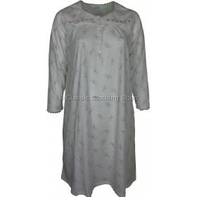 Taupe Floral Long Sleeve Nightdress