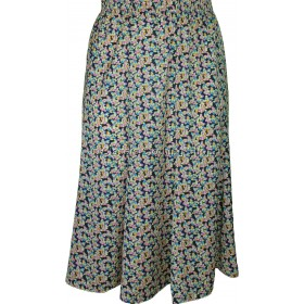 Lilac Floral Printed Panelled Skirt
