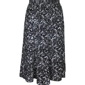 Black Floral Printed Panelled Skirt