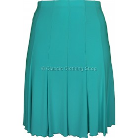 Teal Plain Lined Panelled Skirt