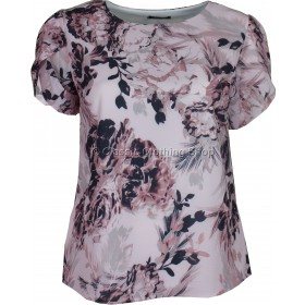 Pink Floral Petal Sleeve Over Top