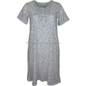 Lilac Everyday Floral Short Sleeve Nightdress