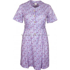 Lavender Floral Sweetheart Neck Dress