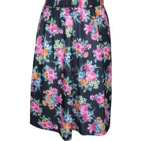 Pink Rose Printed Panelled Skirt