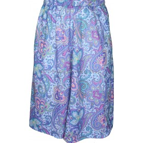 Lavender Paisley Printed Panelled Skirt