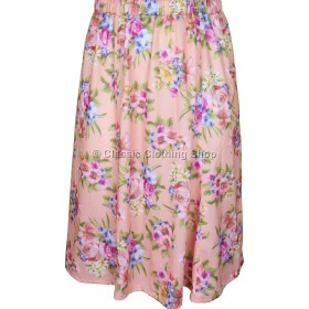 Coral Printed Panelled Skirt